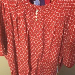 Chico's red summer top